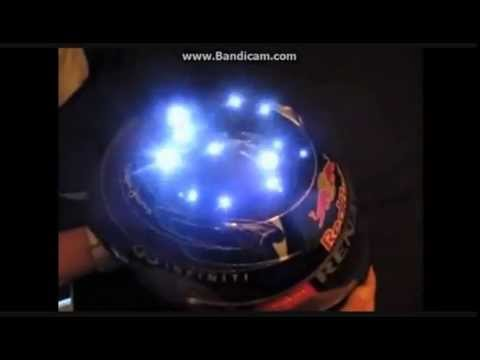Sebastian Vettel light helmet (Singapore 2012)