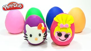 Play Doh Surprise Eggs Disney Princess Hello Kitty Lalaloopsy Kids Toys