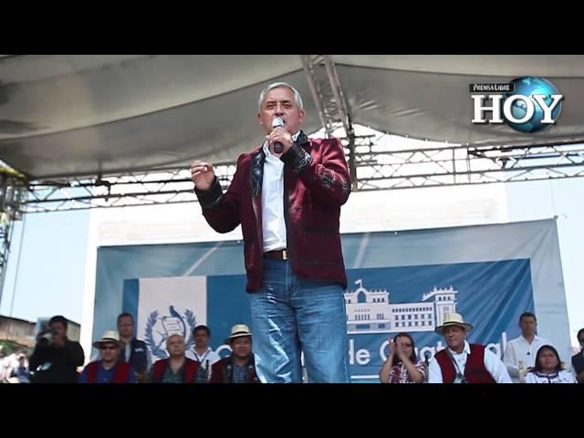 Otto Pérez visita Triángulo Ixil
