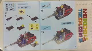 Hướng dẫn lắp ráp Lepin 20025 Lego Technic 8294 Excavator giá sốc rẻ nhất