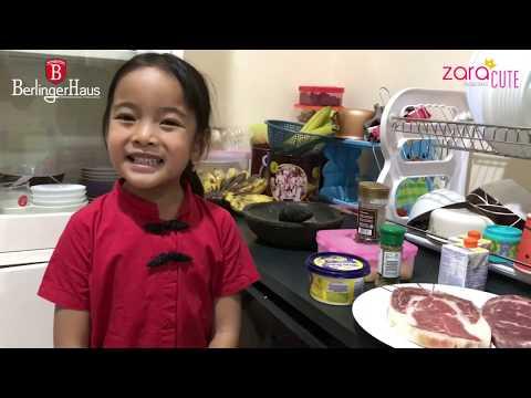 Yuk Masak | Membuat Steak Saus Jamur ala Zara Cute | BBQ Wagyu | Berlinger Haus