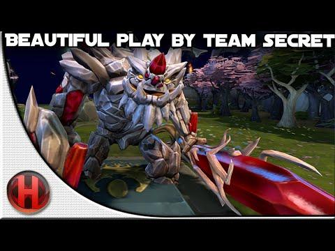 Dota 2  Beautiful Play by Team Secret  The Summit 2