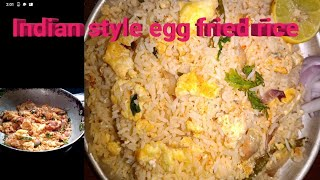 No vegetables no sauces but tasty egg fried rice in home//tasty Indian style egg fried rice