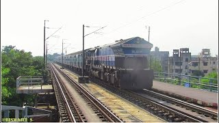 Very Rare | DARJEELING Mail at Broad Daylight skips Bally Ghat station !!