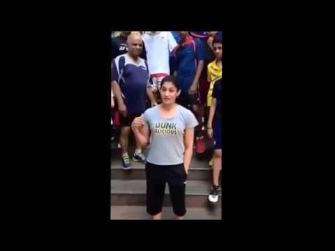 Ashwini Ponnappa accepted ALS Ice Bucket Challenge