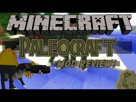 Minecraft| DINOSAUR MOD Review! (DINOSAUR DIMENSION, FOSSILS, PALEOCRAFT MOD)