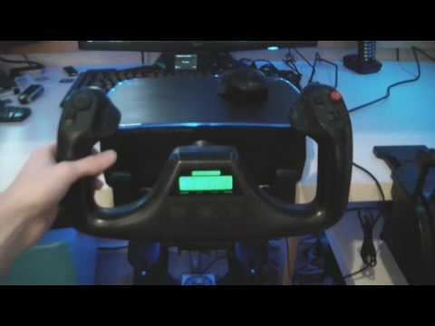 My PC Flight Simulator setup - Saitek Pro Flight yoke and Saitek X52 [HD 720p]