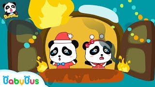 Action ! Elephant Firefighter | Baby Panda's Home is on Fire | Christmas Song | BabyBus