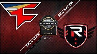 FaZe Clan vs Rise Nation | CWL Seattle Open 2018 | Day 1 | Alpha Stream