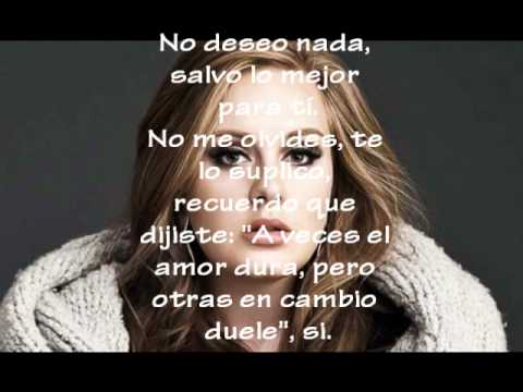 Adele-Someone Like You con letra en español