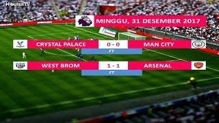 Hasil Liga Inggris Tadi Malam Pekan ke 21, tgl 31 Desember 2017