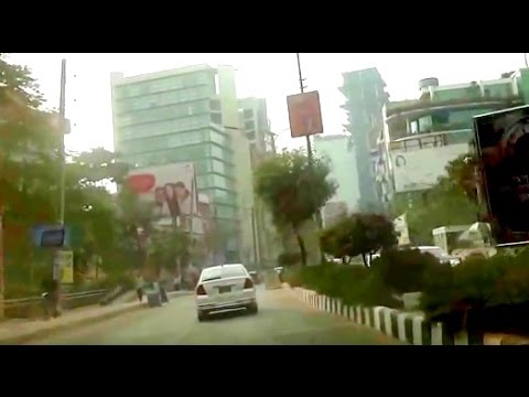 Dhaka City Drive 28 - Gulshan 2 to Banani via Kamal Ataturk Avenue - Bangladesh