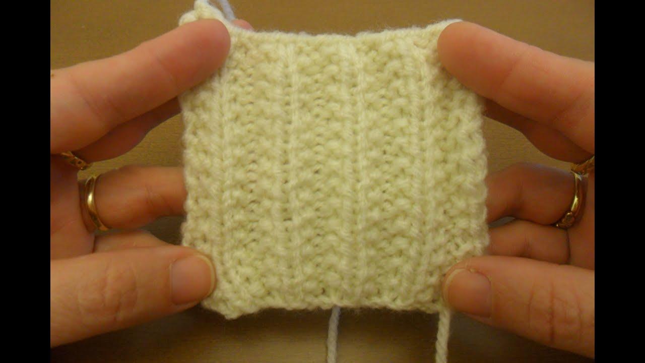Aprende un punto bonito parecido al punto ingles en dos - Puntos faciles para tejer con dos agujas ...