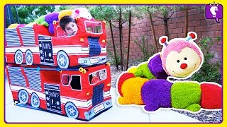 Truck Surprise TOY Adventure! Scavenger Hunt for HobbyWormy and Play by HobbyKids