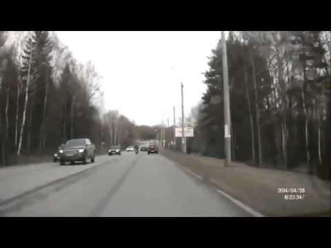 Авария с мотоциклистом 28 04 2014