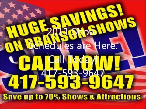 Discount show tickets for live Branson entertainment and attractions. We provide expert advice on Branson, MO and the best deals on shows!