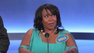 """Family Feud - The worst contestant EVER on family feud ever - Sheila the """"NANA"""" patterson"""