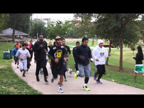 MANNY PACQUIAO RUNNING WITH SPARRING PARTNERS for Manny Pacquiao vs Floyd Mayweather