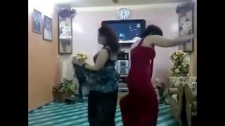 Two Sexy Girl Home Dance