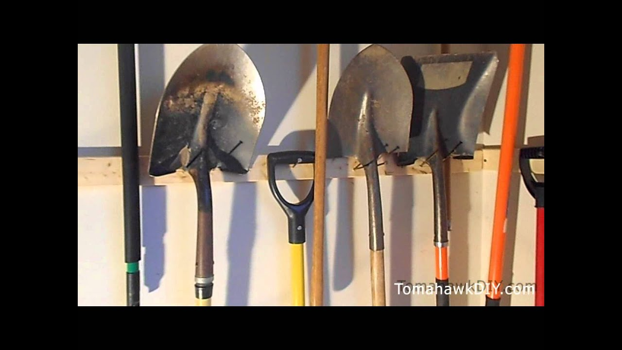 Organize garage hang tools for cheap youtube for Affordable garden tools