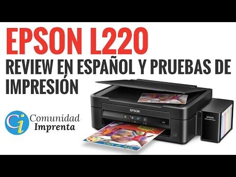 Impresora EPSON L220 - Review y Pruebas de Impresión en Español HD