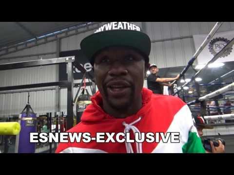 Floyd Mayweather At Garcia Gym Talks Conor McGregor Skill Set & Visit To Jon Jones - esnews