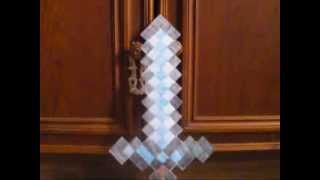 Minecraft - Из Бумаги - 50 Алмазный Меч