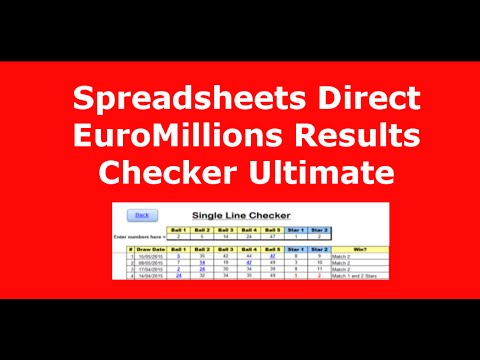 Spreadsheets Direct Lotto Results Checker Ultimate Excel...