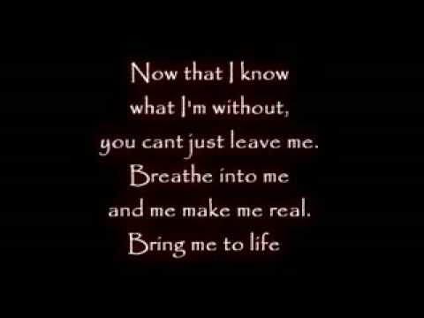 Evanescence Wake me up Inside Lyrics