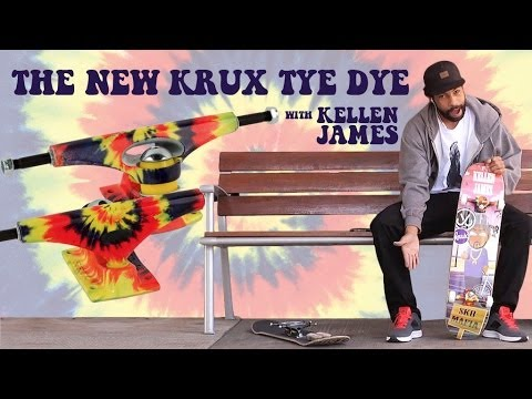 Krux Trucks Kellen James and the New Krux TyeDye