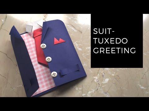 DIY Suit Tuxedo Greeting Card Tutorial