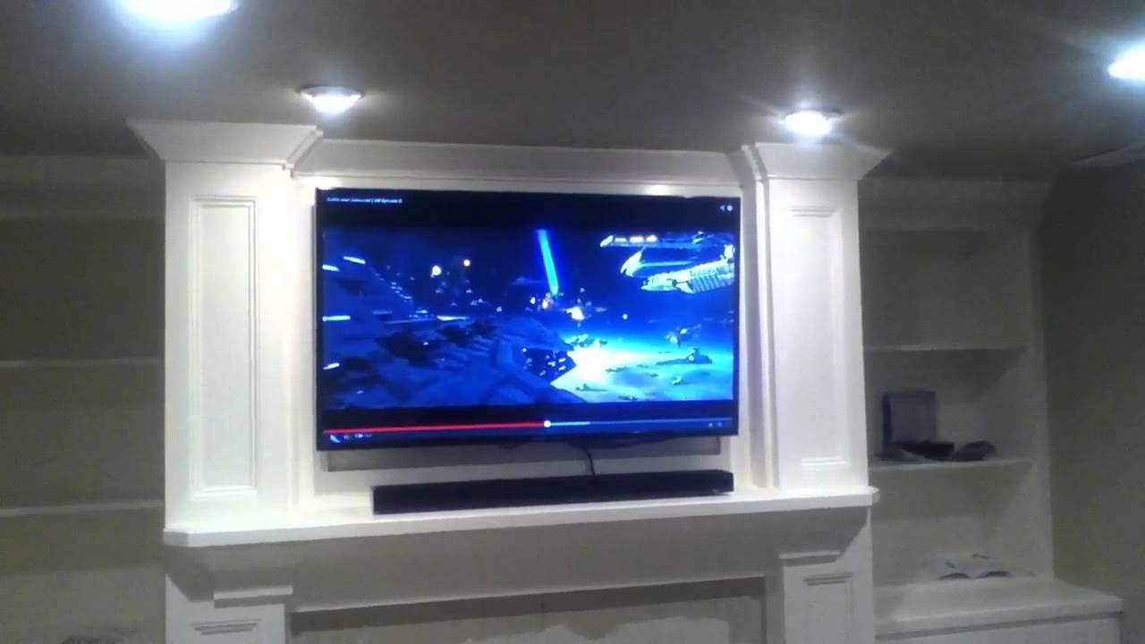 Bose Sound Bars >> Installation on Samsung Duo Core Smart TV with sound bar above fireplace - YouTube