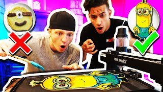 MAKING PANCAKE ART WITH YOUTUBERS!