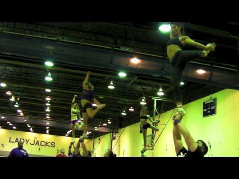 SFA Lg Coed Cheer Partner Stunt Highlight Video 2010-2011