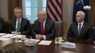 President Trump Participates in an Expanded Bilateral Meeting with the Secretary General of NATO