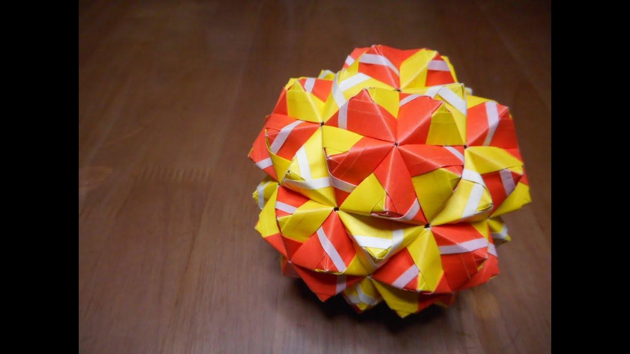 すべての折り紙 折り紙 折り方 立体 : ユニット折り紙 二十・十二 ...