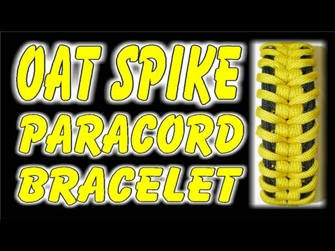 How to Make A Paracord Oat Spike Sinnet Bracelet