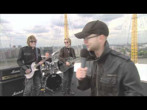 Ben Jones introduces Bon Jovi LIVE on the roof of the O2 dome in London
