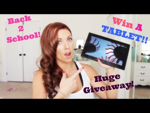❤ WIN A TABLET & MORE!! Huge BACK TO SCHOOL Giveaway!! ❤