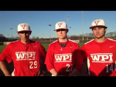WPI Baseball Post-Game Interview - Connor Kurtz, Aidan Freeburg and Drew Gelinas