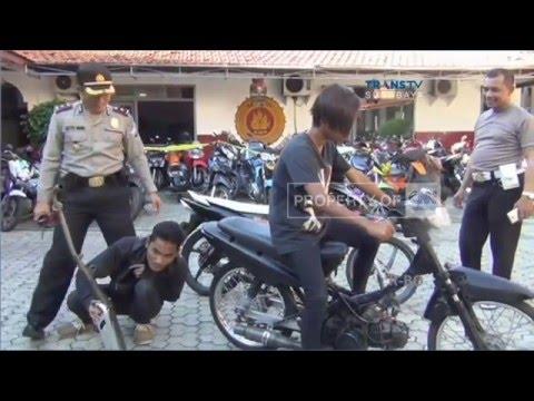 Hukuman Unik dalam Razia Knalpot Bising