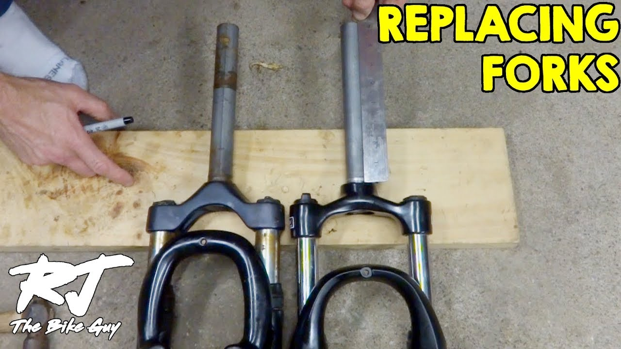 Replacing Forks Shocks On Mountain Bike Youtube