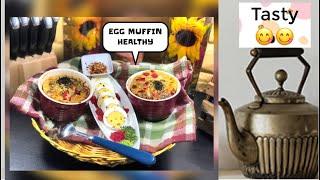 Egg muffins | Super Healthy breakfast | veggie egg recipe | lockdown recipe