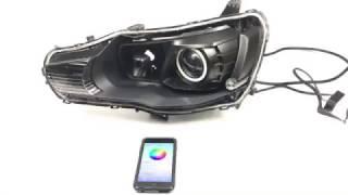 Mitsubishi Evo - Custom Headlights - Morimoto XSB Halos + Diode Demon Eyes