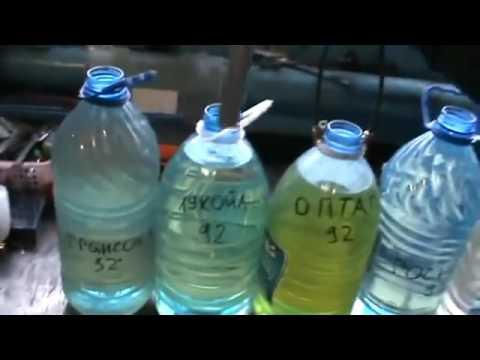 Тест  бензина Лукойл, Газпромнефть, Лукойл, Роснефть