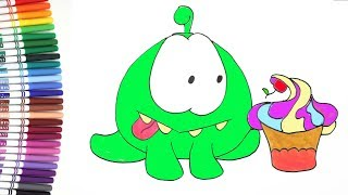 Funny marker How to draw OM NOM cartoon for kids