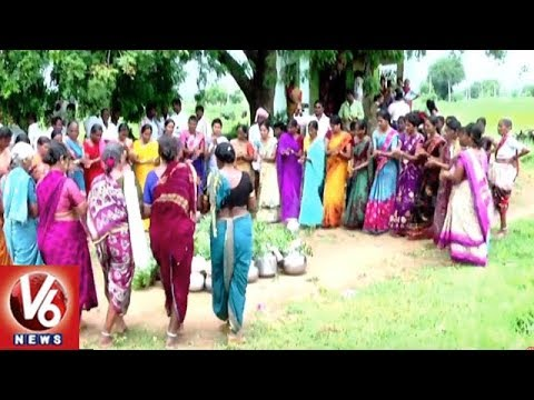 Arepalli Villagers Performs Ghatabhishekam For Rains | Siddipet District | V6 News