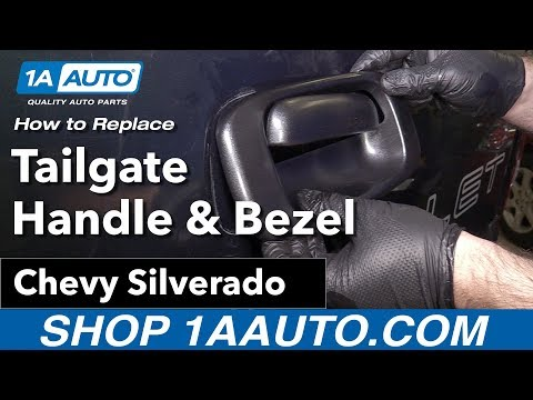 How to Replace Install Tailgate Handle and Bezel 06 Chevy Silverado