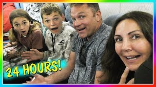 24 HOURS ON A PLANE   OVERNIGHT CHALLENGE   We Are The Davises