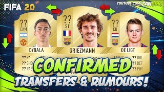 FIFA 20 | CONFIRMED SUMMER TRANSFERS & RUMOURS!! | FT. GRIEZMANN, DYBALA, DE LIGT...